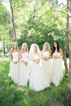 White Bridesmaids Dresses thinking about it..  . . . Thinking. . . . . . . . . Thinking . . . . . . . . . Hummmmmmmmm