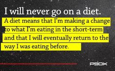 Diets Never Work