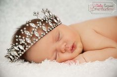 Baby girl  Princess in the making...LOVE the idea of an oversized crown for baby girl shoot.