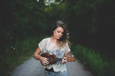 Girl with Ukulele. I need a senior picture like this in the future. Perf