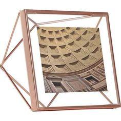 "rose gold ""3D"" photo frame"