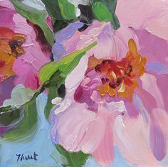 An abstract realist painting by artist Linda Hunt by LindaHunt