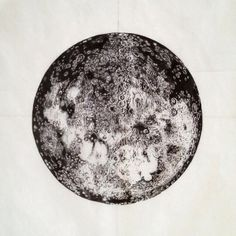 the moon, finished. Pen and ink. by Elizabeth McTear