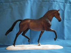 Absinth , Warmblood Stallion, Sculpted by Brigitte Eberl, Repaint by Nina M.