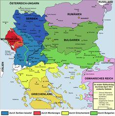 Im Ersten Balkankrieg durch den Balkanbund bis April 1913 eroberte