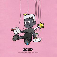 IGOR by tyler the creator Cartoon Wallpaper, Rap Wallpaper, Vintage Cartoon, Cartoon Art, Photo Wall Collage, Collage Art, Rap Art, Tyler The Creator Wallpaper, Hip Hop Art