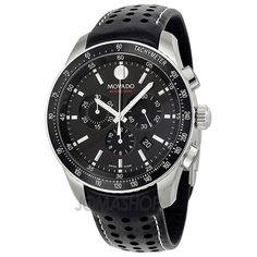 Movado Series 800 Quartz Chronograph Black Dial Mens Watch 2600096