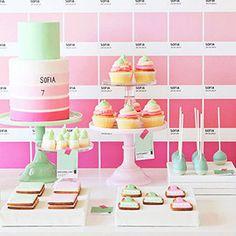 Una fiesta de cumpleaños inspiración Pantone -  Inspiración e ideas para fiestas de cumpleaños - Fiestas de cumple para niños – Regalos originales para bebés - Charhadas.com