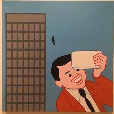 #selfie with #suicide in the back by #JoanCornella @sirjoancornella  #everydayart #1日1アート