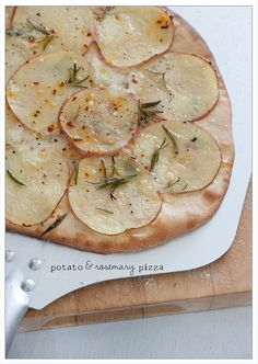 Potato and rosemary pizza  the blog is Stone Soup, great minimalist healthy meals in minutes