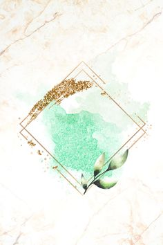 Gold rhombus frame on green watercolor background vector | premium image by rawpixel.com Framed Wallpaper, Wallpaper Backgrounds, Pastel Wallpaper, Wallpapers, Flower Wallpaper, Screen Wallpaper, Green Watercolor, Watercolor Background, Apple Background