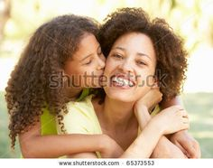 stock photo : Portrait Of Mother And Daughter In Park