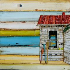 Southern Maine Beach Shack This picture was inspired by summer living on the New England Coast. Our family vacations in Southern Maine every