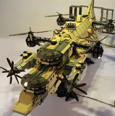 Goliath steampunk airship by DeGobbi, via Flickr Awesome Lego version of Goliath from Laputa: Castle in the Sky