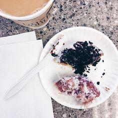Today we ate our feelings. And what we're feeling is grief.         #coffee #dailycortado #onthetable #coffeeshopcorners #coffeeshopvibes #chasinglight #thatsdarling #igerscoffee #mytinyatlas #wanderlust #vscophile #vscocoffee #manmakecoffee #nothingisordinary #flashesofdelight #peoplescreative #coffeefliicks #creativityfound #bestofvsco #snapseed #liveauthentic #coffeeshoptabletop #coffeesesh #coffeegram #butfirstcoffee #cupsinframe  #studiodiysugarfix #abmlifeissweet #donutshop #donuttime