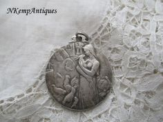 Medal/pendant 1930's  for the collector by Nkempantiques on Etsy
