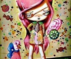 Big EyedSweet Candy Tooth Girl and her by pinkytoast on Etsy