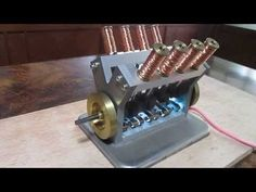 solenoid engine Ⅴ8  電磁石エンジン - YouTube