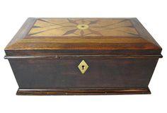 Antique English Inlaid Treasure Box on OneKingsLane.com