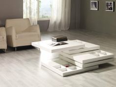 """Belaya Multi-Function Coffee Table by VIG. $599.00. Color: White Weight: 176 Dimensions: 29.5""""x29.5""""x14.5"""" Manufacturer: Modern Furniture by VIG"""