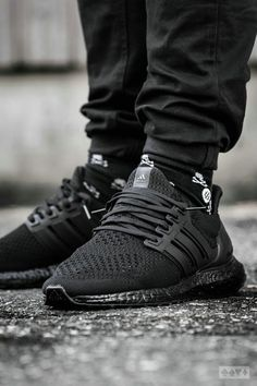 ADIDAS Women's Shoes - Adidas Women Shoes - Adidas Ultra Boost Triple Black - 2016 - We reveal the news in sneakers for spring summer 2017 - Find deals and best selling products for adidas Shoes for Women Sneakers Mode, Sneakers Fashion, All Black Sneakers, Fashion Shoes, Mens Fashion, Summer Sneakers, Ultra Boost Triple Black, Me Too Shoes, Women's Shoes