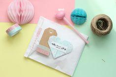 Little Hannah: Packaging con corazones mint