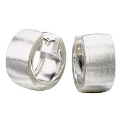 a favorite: brushed, wedding band - width huggies' hoops !  ! P E R F E C T !