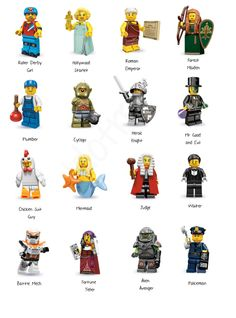 LEGO Minifigures Series 9 Playmobil Toys, Lego Toys, Lego Minifigs, Lego Ninjago, Lego Website, Dagobert Duck, Lego Universe, Lego People, Lego Man