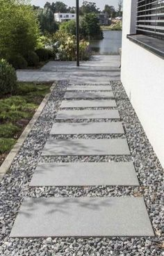 60 Awesome Garden Path and Walkway Ideas Design Ideas And Remodel 24 Front Garden Entrance, Front Yard Walkway, Paver Walkway, Pebble Walkway Pathways, Cobblestone Walkway, Stone Walkways, Concrete Walkway, Sidewalk Landscaping, Front Yard Landscaping
