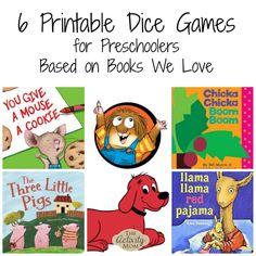 FREE Printable Dice Games Based on Children's Books
