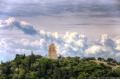 Athens cloud and temple by Laurence Norah