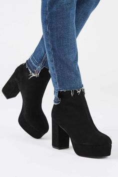 HELLO Platform Boots - Shoes- Topshop