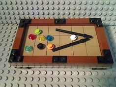Lego Tan Pool Table Beige Billiards 8 Ball City Cue Stick Town Sports Bar Game