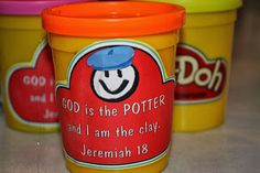 "Hands On Bible Teacher: Jeremiah & The Potter....I like the idea of giving play doh to take home as an object lesson for ""He is the Potter and I am the clay"""