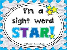 K-2 sight word tracking for the year!