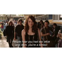 Easy A, why is this so true? Easy A, Blame, Movies And Tv Shows, Movie Tv, Netflix, My Favorite Things, People, Movies, Drawings