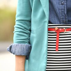 8 Tips for Using Your Style Cards - Stitch Fix Blog *love the colors that pop...the combo of colors in this picture (esp the red)