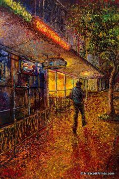 NORMS IN BALLARD - by Iris Scott, finger painting artist. Visit IrisScottPrints.com