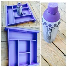 Divided Tray in color 'Fly Girl' by @redposie ---> #PlutoniumPaint #SprayPaint #UltraSupreme #EcoFriendly #MadeInTheUSA #DIY #Crafts #UpCycle