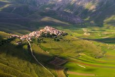 """Castelluccio Norcia - Taken in early morning from the """"green"""" path."""