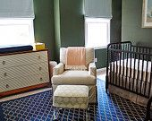 drawncompany  Custom Roman Shade Window Treatment for Nursery | As Seen on Bryn Alexandra Blog | Designer Quality
