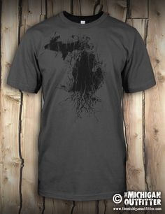 Michigan Roots - Mens T-Shirt - Asphalt – The Michigan Outfitter