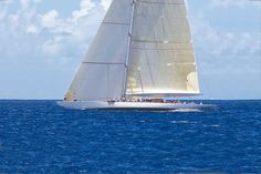 Ranger is the first J Class yacht to be built since the Luxury Yachts For Sale, Yacht For Sale, J Class Yacht, Wooden Boats, Modern Classic, Sailing Ships, 1930s, Ranger, Old Things