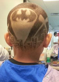 Batman hair tattoo...to much?...not for my boyz!!!    ')