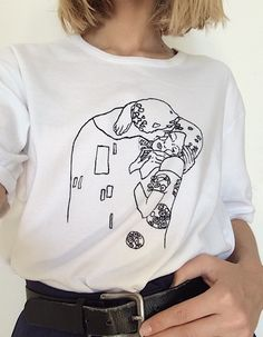 "Gustav Klimt ""The Kiss"" t-shirt - vinted.pl"