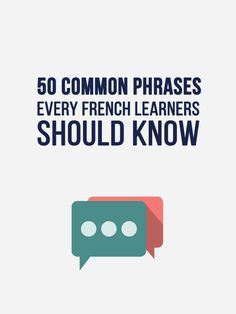 50 Common French Phrases Every French Learner Should Know - FRENCH Learning - Learn 50 Casual, Everyday French Phrases You Oughta Know. French Language Learning, Language Lessons, Learn A New Language, German Language, Japanese Language, Spanish Language, Dual Language, Chinese Language, Foreign Language