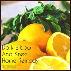 How to lighten dark knees and elbows- Mix together lemon juice, coconut oil, and sugar together and put on elbows and knees.