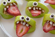 And without a healthy snack of peanut butter for Halloween!  Over a recipe for little eyes!