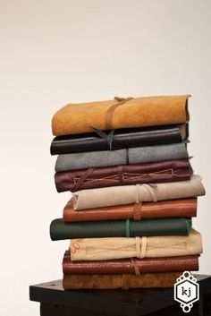 A new desire to buy one of these journals to use. Looks like they're so personal and the string ties together the thoughts and memories that is my life.