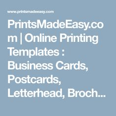 Best online printing offer business cards flyers leaflets banners printsmadeeasy online printing templates business cards postcards letterhead brochures reheart Image collections